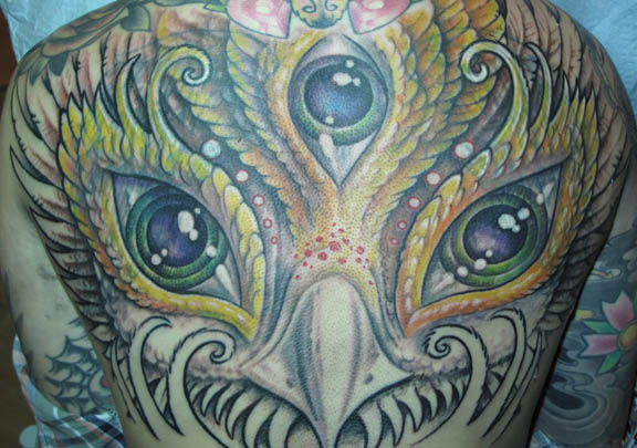 color backpiece tattoo coverup