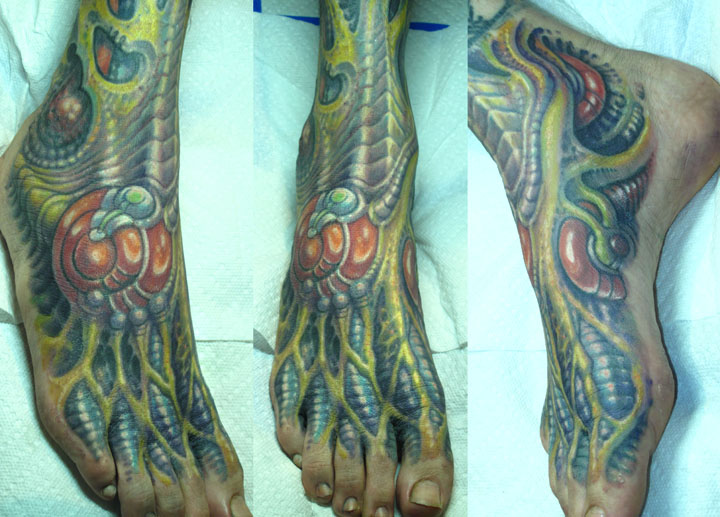 durb foot tattoo