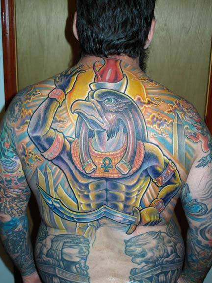 egyptian backpiece tattoo