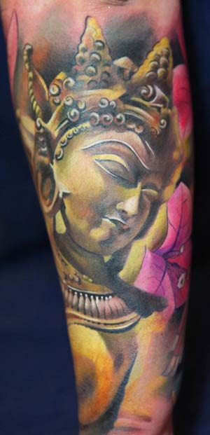 Chris is widely believed to one of world's best tattoo artist.