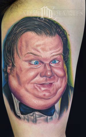 chris farley tattoo