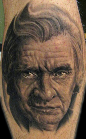 johnny cash portrait tattoo