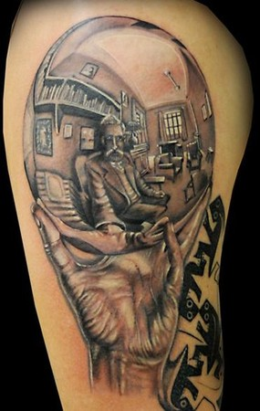 There's something sort of awesome about a tattoo artist who can literally