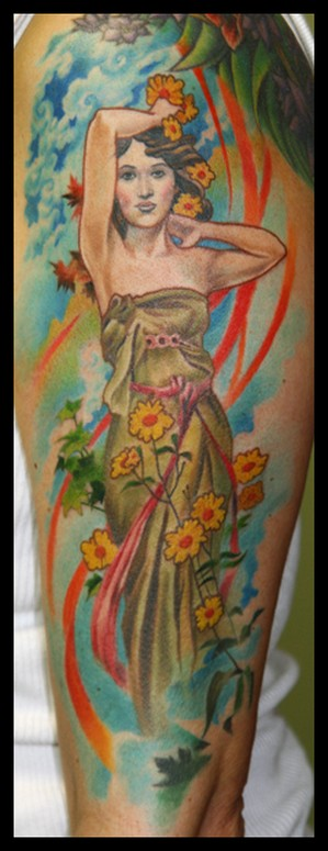 Tattoo Inspiration: Mucha Daybreak Tattoo