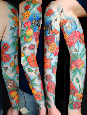Flower Arm Sleeve Tattoos