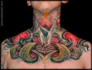 Throat Tattoo