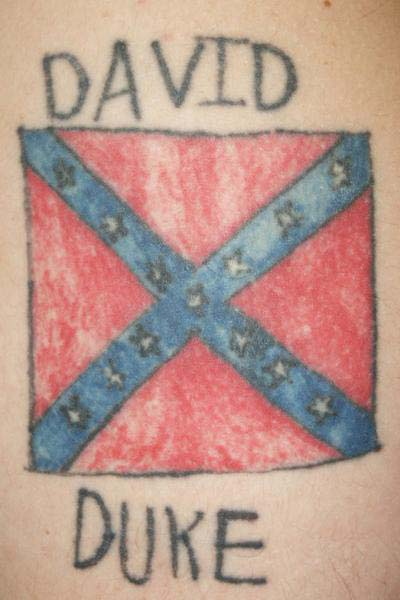One of the most popular ink patterns is the confederate flag tattoo .
