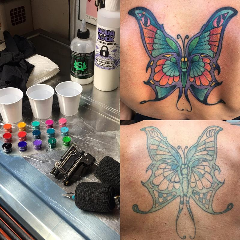 5da2ed0cf Rebel Muse Tattoo : Tattoos : Traditional Old School : Colorful Butterfly
