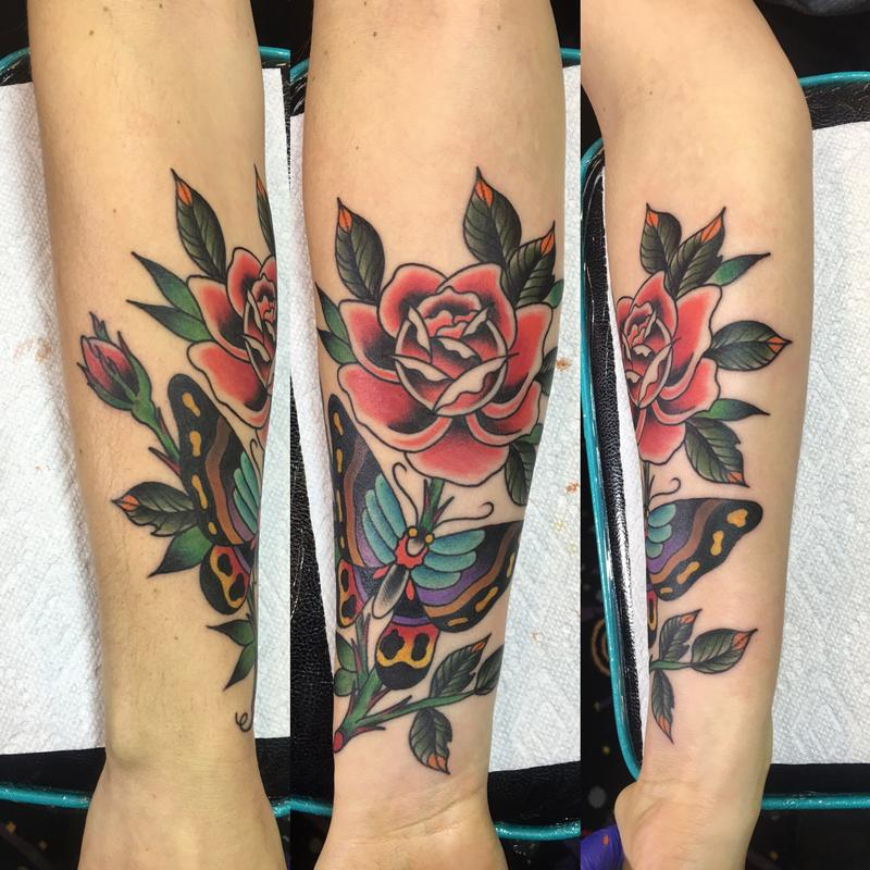 Rebel Muse Tattoo : Tattoos : Nature Animal Butterfly : Butterfly Rose