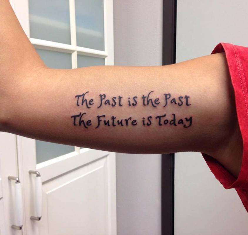 Rebel Muse Tattoo : Tattoos : Body Part Arm : Script