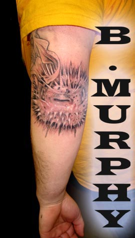 Brian murphy yes thats a puffer on that boys elbow for 3rd dimension salon