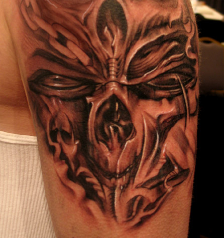 Sick Tattoos on Off The Map Tattoo   Tattoos   Brian Murphy   Freehand Skull