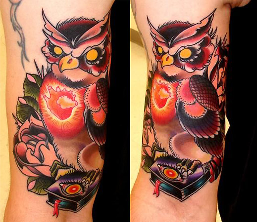 owl tattoos. nature animal owl Tattoos