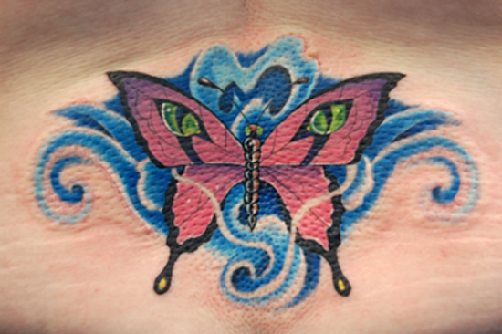 Swimwear models - new lotus and butterfly tattoo designs Butterfly tattoos tokio hotel