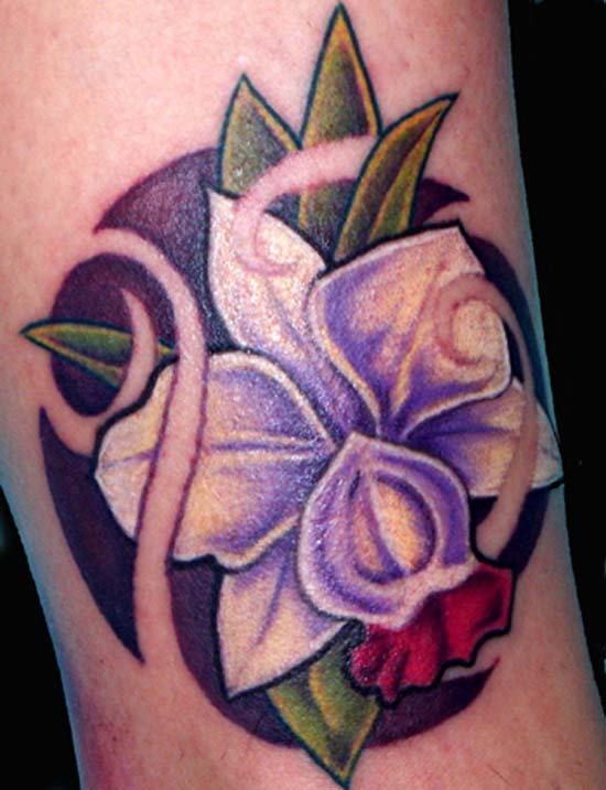 Art Nouveau Flower Tattoos Art Tattoos Flower