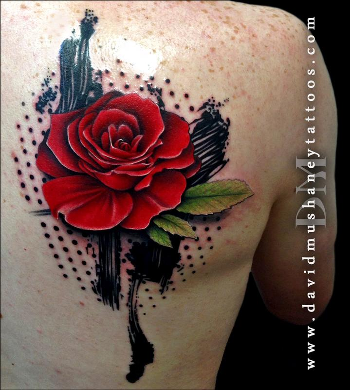 ef6bc2c1d Rebel Muse Tattoo : Tattoos : Body Part Back : Abstract Rose Tattoo