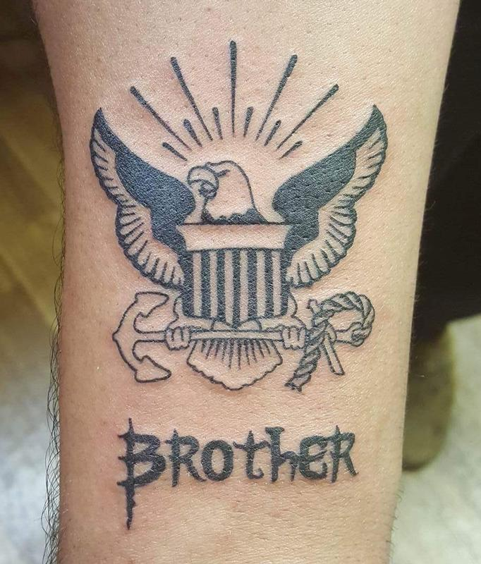 Navy Brother Tattoo By Stefanee Schofield Tattoos
