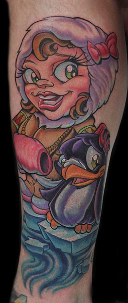 eskimo penguin tattoo