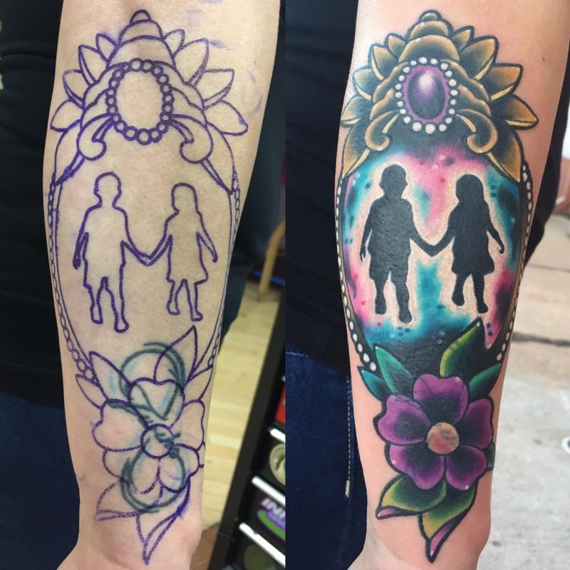 Geliefde Brother/sister tattoo by Lazlow : Tattoos &ZS36